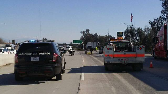 CHP reports pedestrian hit on southbound 99 south of Olive Drive