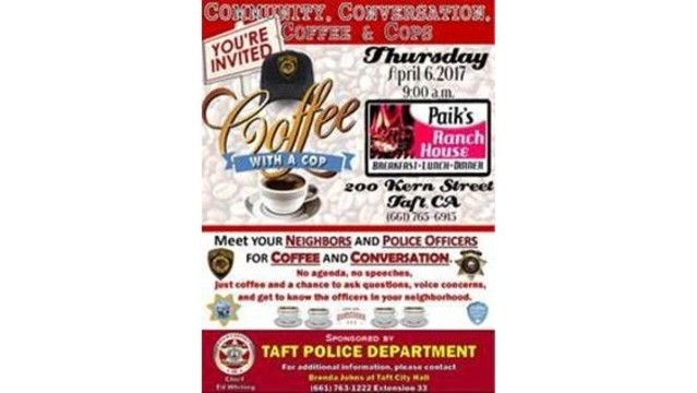 Coffee with a cop in Taft