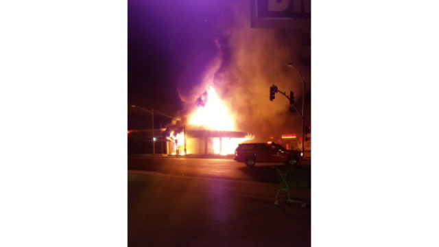 Strip mall stores damaged in overnight fire in south Bakersfield