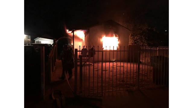 City, county firefighters respond to blaze at East Bakersfield home