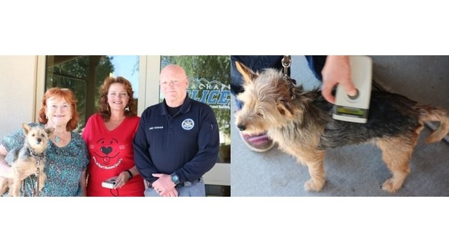 Tehachapi Police Department receives pet mircochip scanner from Humane Society
