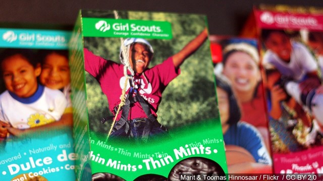 Girl Scout cookies entice students
