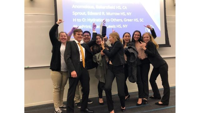 Bakersfield's Virtual Enterprise team competing at nationals in New York