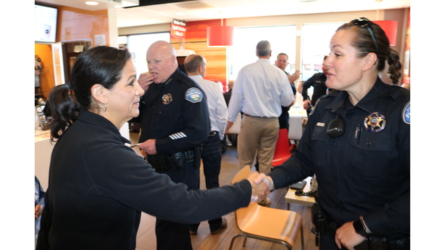 Coffee with a Cop event in Tehachapi